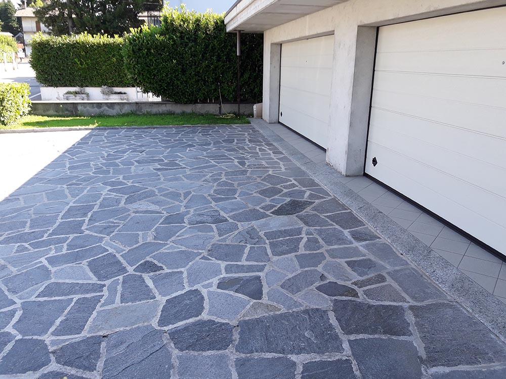 Pietre per pavimenti in mosaico da esterni per giardini e parchi
