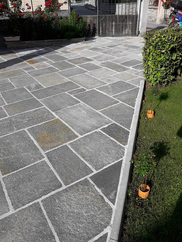 pavimenti per esterni in pietra porfidi mosaici per