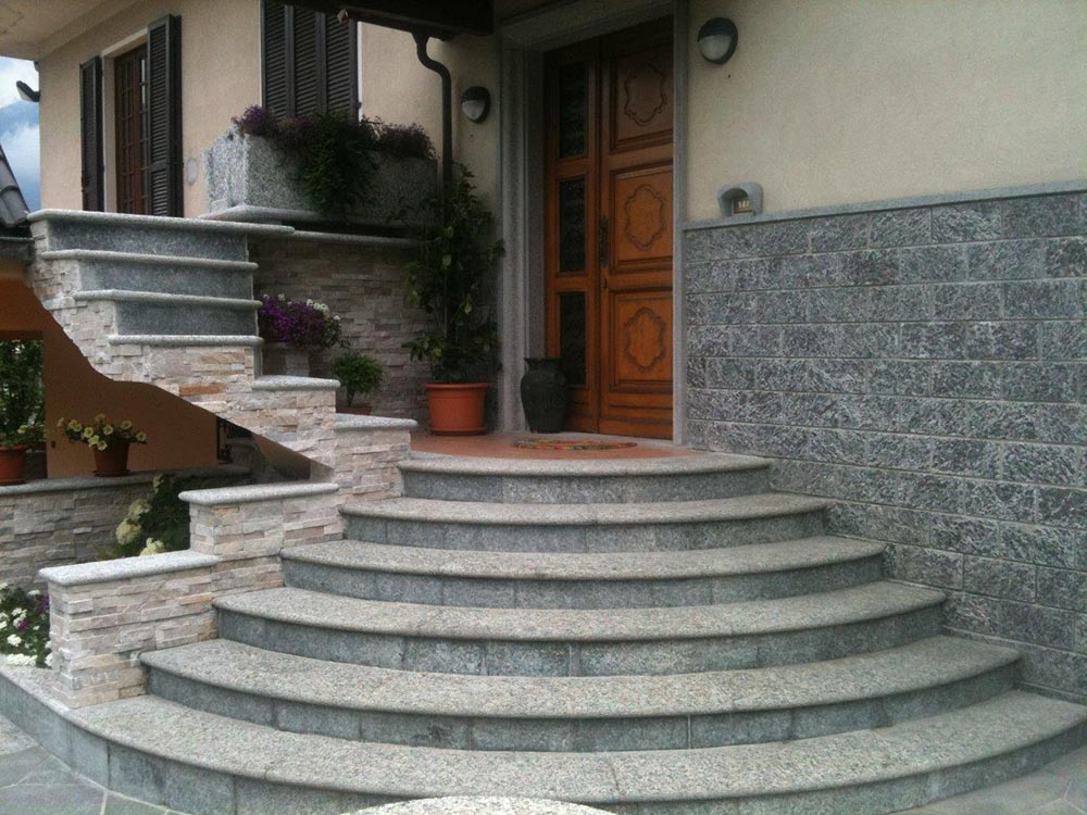 Scala esterna in pietra vr74 regardsdefemmes - Rivestimenti scale esterne ...