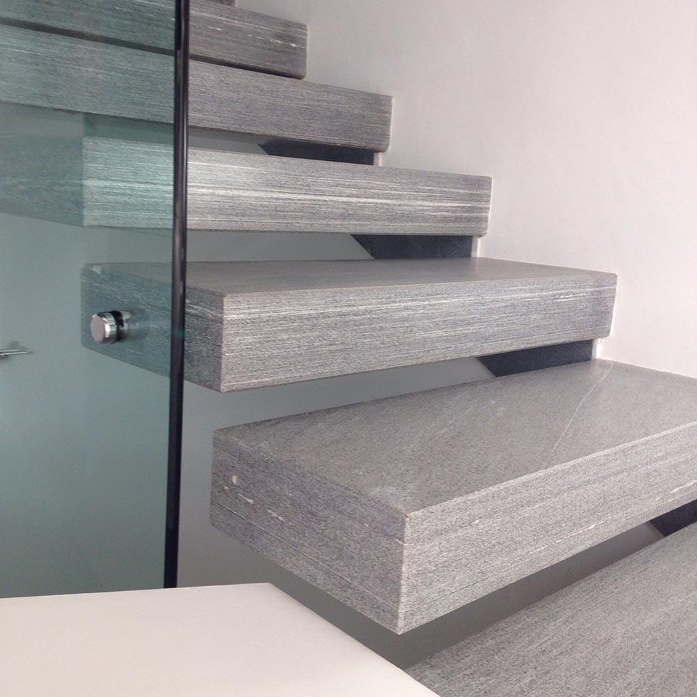 Famoso Scalini pietra su misura levigatura antiscivolo per scale da esterno OF15
