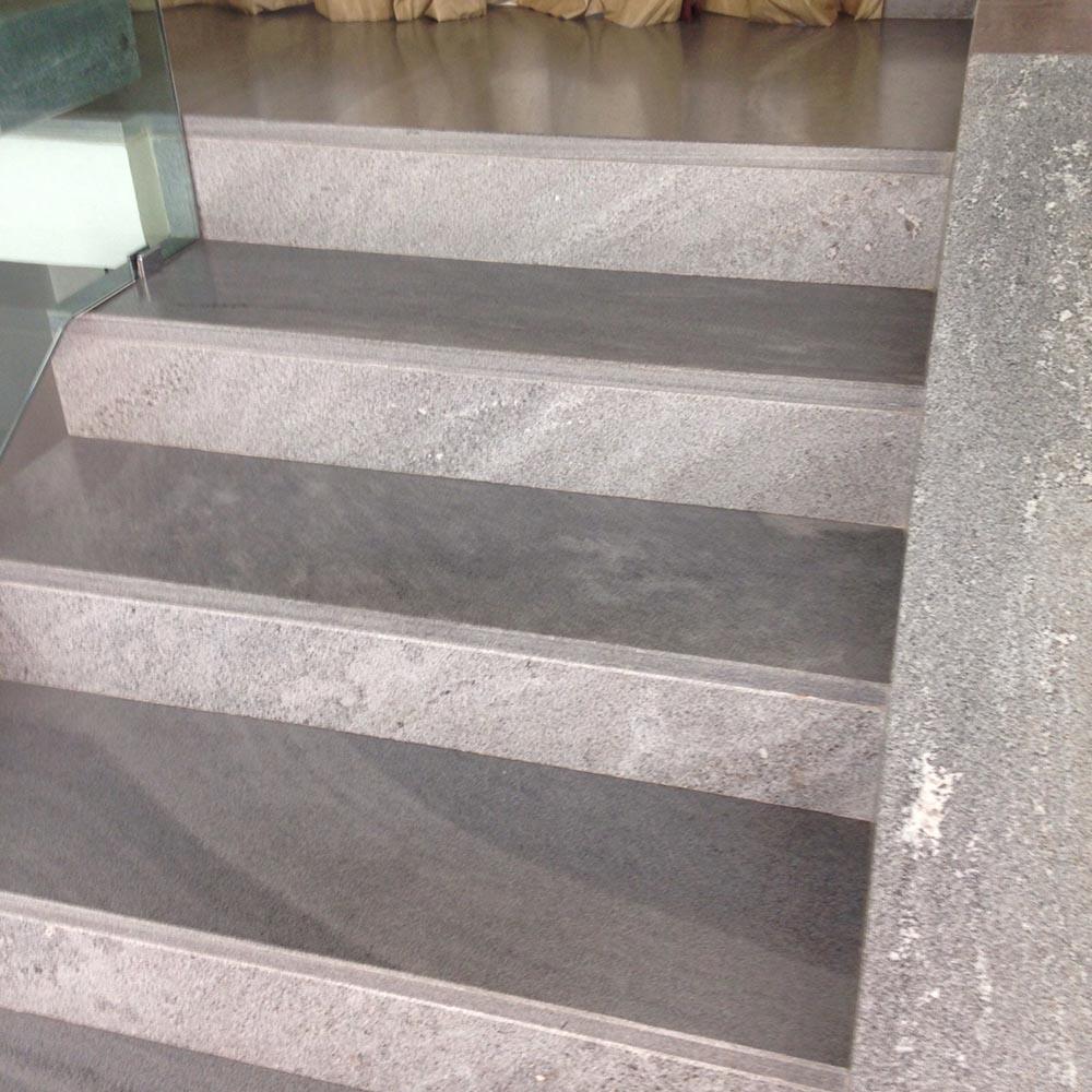 Pietra Grigia Per Davanzali scalini pietra su misura levigatura antiscivolo per scale da