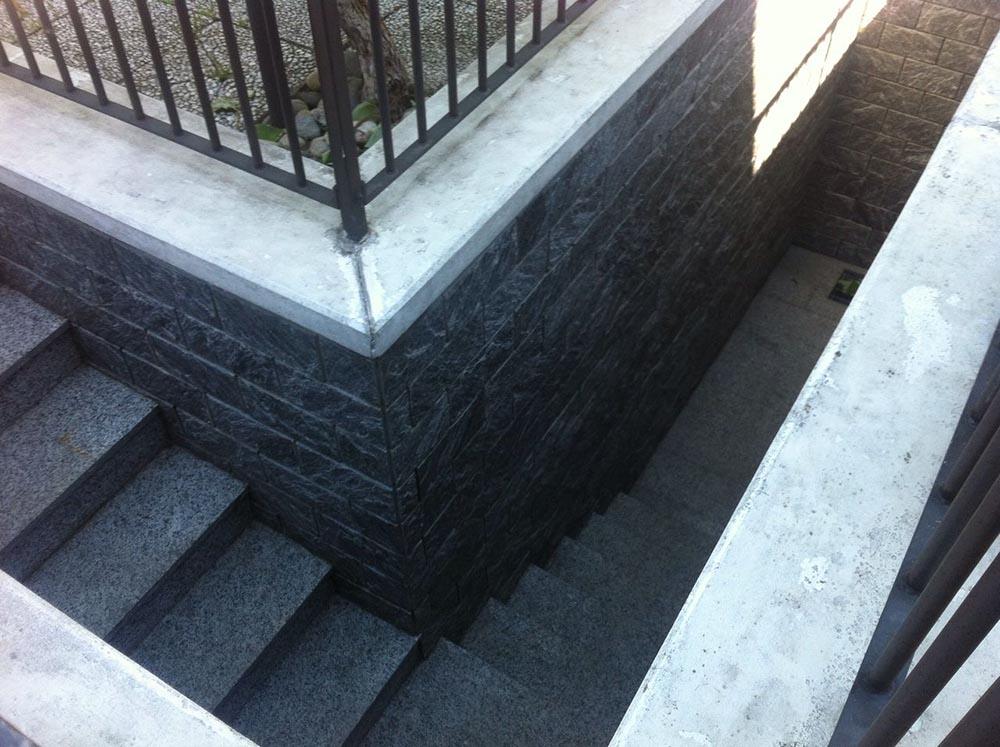 Preferenza Scalini pietra su misura levigatura antiscivolo per scale da esterno CY83